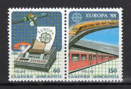 Poštovní známky Øecko 1988 Evropa CEPT, transport Mi# 1685-86 Kat 16€