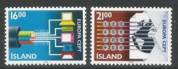 Poštovní známky Island 1988 Evropa CEPT, transport Mi# 682-83