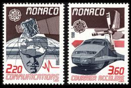 Poštovní známky Monako 1988 Evropa CEPT, transport Mi# 1859-60 Kat 5€