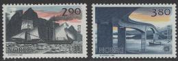 Poštovní známky Norsko 1988 Evropa CEPT, transport Mi# 996-97