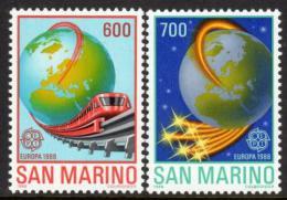 Poštovní známky San Marino 1988 Evropa CEPT, transport Mi# 1380-81 Kat 15€