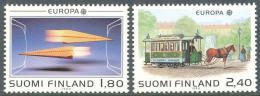 Poštovní známky Finsko 1988 Evropa CEPT, transport Mi# 1051-52 Kat 7€