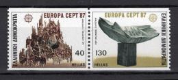 Poštovní známky Øecko 1987 Evropa CEPT, moderní architektura Mi# 1651-52 C Kat 7€