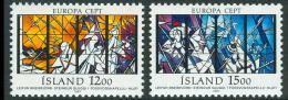 Poštovní známky island 1987 Evropa CEPT, moderní architektura Mi# 665-66