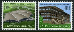 Poštovní známky Lucembursko 1987 Evropa CEPT, moderní architektura Mi# 1174-75