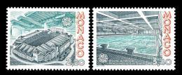 Poštovní známky Monako 1987 Evropa CEPT, moderní architektura Mi# 1794-95