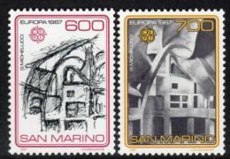 Poštovní známky San Marino 1987 Evropa CEPT, architektura Mi# 1354-55 Kat 22€