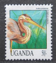Poštovní známka Uganda 1992 Volavka èervená Mi# 1143