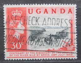 Poštovní známka Uganda 1962 Vodopády Ripon Mi# 69
