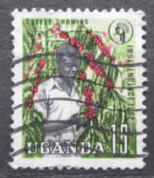 Poštovní známka Uganda 1962 Sbìr kávy Mi# 75