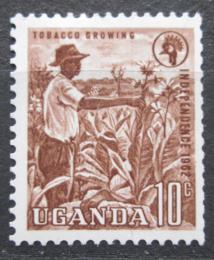 Poštovní známka Uganda 1962 Sbìr tabáku Mi# 74