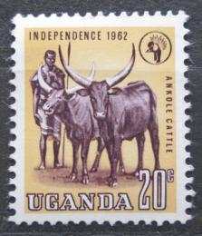 Poštovní známka Uganda 1962 Chov dobytku Mi# 76