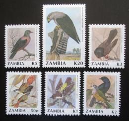 Poštovní známky Zambie 1991 Ptáci TOP SET Mi# 544-49 Kat 20€