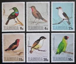 Poštovní známky Zambie 1977 Ptáci Mi# 180-85 Kat 10€
