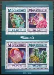 Poštovní známky Mosambik 2015 Minerály Mi# 8139-42 Kat 15€