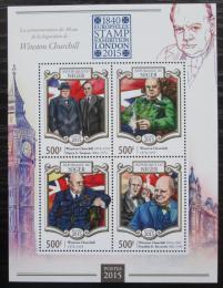 Poštovní známky Niger 2015 Winston Churchill Mi# 3270-73 Kat 8€