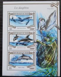 Poštovní známky Niger 2015 Delfíni Mi# 3554-56 Kat 12€