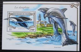 Poštovní známka Niger 2015 Delfíni Mi# Block 451 Kat 11€