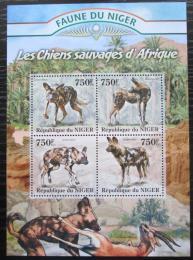 Poštovní známky Niger 2013 Pes hyenový Mi# 2113-16 Kat 12€