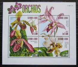 Poštovní známky Sierra Leone 2015 Orchideje Mi# 6317-20 Kat 10€