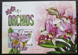 Poštovní známka Sierra Leone 2015 Orchideje Mi# Block 796 Kat 10€
