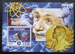 Poštovní známka Sierra Leone 2015 Albert Einstein Mi# Block 793 Kat 12€