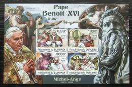 Poštovní známky Burundi 2011 Papež Benedikt XVI. Mi# Block 178 Kat 9.50€