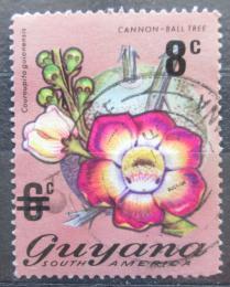 Poštovní známka Guyana 1974 Lonèatník guyanský pøetisk Mi# 455