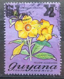 Poštovní známka Guyana 1975 Alamanda poèistivá pøetisk Mi# N/N