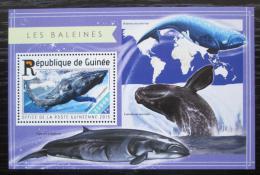 Poštovní známka Guinea 2015 Velryby Mi# Block 2507 Kat 14€