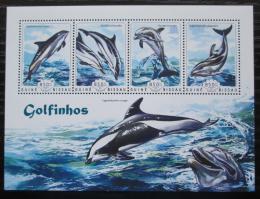 Poštovní známky Guinea-Bissau 2014 Delfíni Mi# 7351-54 Kat 14€