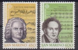 Poštovní známky San Marino 1985 Evropa CEPT, rok hudby Mi# 1313-14 Kat 6€