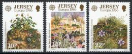 Poštovní známky Jersey 1986 Evropa CEPT, ochrana pøírody Mi# 378-80