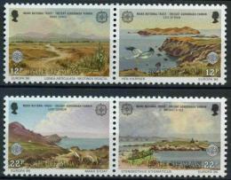 Poštovní známky Ostrov Man 1986 Evropa CEPT, ochrana pøírody Mi# 307-10