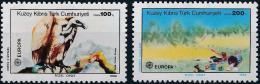 Poštovní známky Kypr Tur. 1986 Evropa CEPT, ochrana pøírody Mi# 179-80 Kat 10€