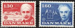 Poštovní známky Dánsko 1980 Evropa CEPT, osobnosti Mi# 699-700