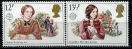Poštovní známky Velká Británie 1980 Evropa CEPT, osobnosti Mi# 841-42