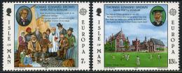 Poštovní známky Ostrov Man 1980 Evropa CEPT, osobnosti Mi# 164-65