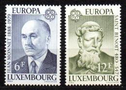 Poštovní známky Lucembursko 1980 Evropa CEPT, osobnosti Mi# 1009-10