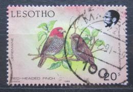Poštovní známka Lesotho 1989 Amadina èervenohlavá Mi# 684 C