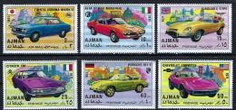 Poštovní známky Adžmán 1971 Sportovní auta Mi# 1169-74