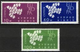 Poštovní známky Kypr 1961 Evropa CEPT Mi# 197-99