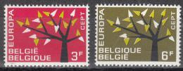 Poštovní známky Belgie 1962 Evropa CEPT Mi# 1282-83
