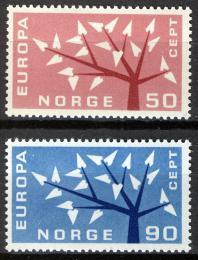 Poštovní známky Norsko 1962 Evropa CEPT Mi# 476-77