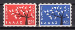 Poštovní známky Øecko 1962 Evropa CEPT Mi# 796-97 Kat 3.50€
