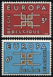 Poštovní známky Belgie 1963 Evropa CEPT Mi# 1320-21
