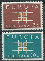 Poštovní známky Nizozemí 1963 Evropa CEPT Mi# 806-07
