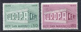 Poštovní známky San Marino 1969 Evropa CEPT Mi# 925-26