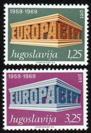 Poštovní známky Jugoslávie 1969 Evropa CEPT Mi# 1361-62 Kat 4.50€