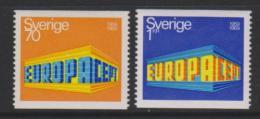 Poštovní známky Švédsko 1969 Evropa CEPT Mi# 634-35 Kat 4€